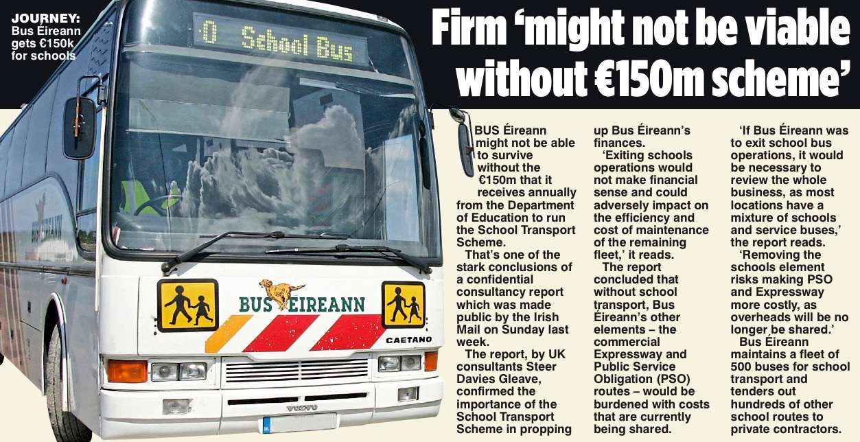 School transport scheme 'not compatible' with eu rules.